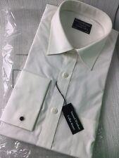 "Samuel Windsor Mens Shirt Cream Ivory Size 16"" NEW Tagged Long Sleeve W948"