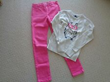 OLD NAVY Cream  Owl Sweater NWT GAP HOT PINK Super Skinny Jeans EEUC  8