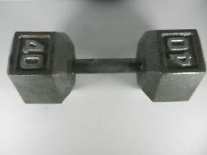 40 Lb Dumbbell  Hex Band Arm Curl Cast Iron Weight  40 Pound Total FREE SHIPPING