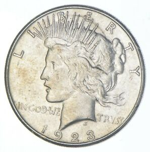 Better - 1923-S - Peace Silver Dollar - 90% US Coin *254