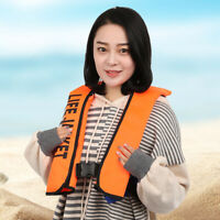 Inflatable Life Jacket Outdoor Portable Swimming Boating Manual Life Vest Safety