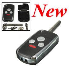 3 Button+Panic Remote Folding Flip Key Case Shell Fob For Honda Accord CRV Civic
