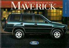 Ford Maverick 1995 UK Market Sales Brochure 2.4i 2.7TD Aspen GLX