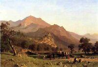 "Huge Oil painting beautiful landscape Rocca de Secca handpainted canvas 24""x36"""