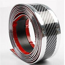 Kohlefaser + Silber Streifen Trim Auto Tür Kante Aufkleber Pedal Schutzleisten