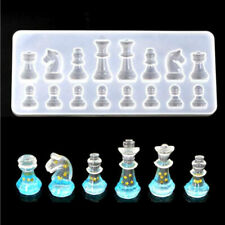 Crystal Chess Silicone Pendant Jewelry Mould Resin Epoxy Casting Mold Craft Tool