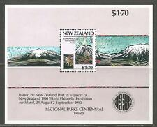 New Zealand 1987 National Parks 100th Anniv ss--Attractive Topical (879a) MNH