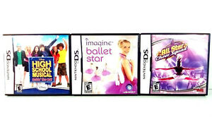 High School Musical Cheer Squad Ballet Star Games Lot (Nintendo DS, 2007) Tested