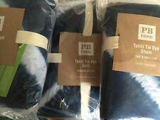 3p Pottery Barn Teen Tahiti Tie Dye Quilt 2 Standard Shams Royal Navy Full Queen