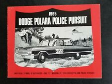 POLICE Car Brochure CHP Sheriff 1965 Dodge Polara California Highway Patrol 413