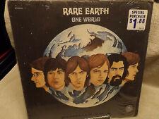 RARE EARTH / ONE WORLD / VG VINYL CONDITION