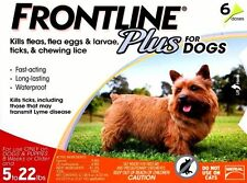 frontline plus for DOGS UNDER 22 lbs (6 months supply) flea and tick control