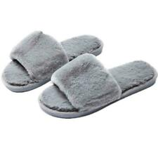 Casa de Felpa Zapatillas para mujer Dormitorio Informal Puntera Abierta Zapatillas de invierno difusa diapositiva