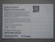 Sexual Assault Report Anonymously South Eastern CASA Ephemera Leaflet Postcard
