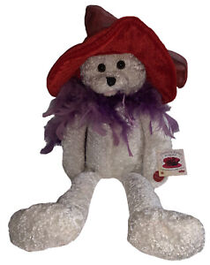 VTG Chantilly Lane Musical Singing Dancing Bear Plush Red Hat Society Collector