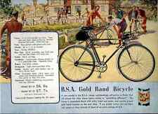 031 Bsa Gold Band Bicycle Vintage Photo Print A4