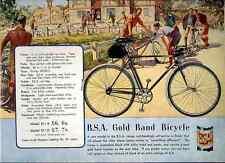 031 Bsa Gold Band Bicycle Vintage Photo Print A4
