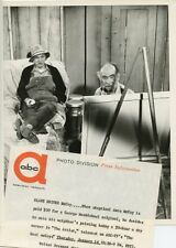 WALTER BRENNAN ANDY CLYDE AS ARTIST THE REAL MCCOYS ORIGINAL 1959 ABC TV PHOTO