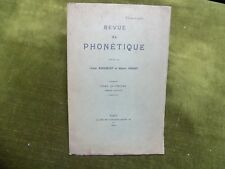REVUE DE PHONETIQUE Abbé Rousselot Hubert Pernot T.4, 1er Fasc. 1914