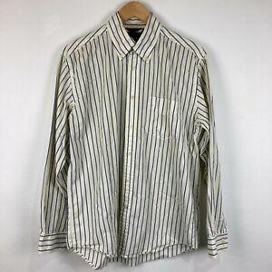 Tommy Hilfiger Mens Button Up Shirt Size M Medium White Long Sleeve 215.20