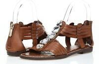 Womens SAM EDELMAN brown leather w/ stones sandals sz. 5-9.5 NEW!