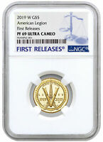 2019 W American Legion 100th $5 Gold Commem NGC PF69 UC FR SKU57433