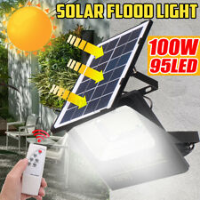 100W Solar Light LED Street  Flood Light Garden Spotlight With Remote Control