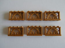 LEGO ELVES   6 orientalische ZÄUNE 19121 in gold / warm gold 1x4 Noppen  NEUWARE