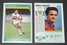 397 ANDREA FORTUNATO GENOA FOOTBALL CARD 92 1991-1992 CALCIO ITALIA SERIE A
