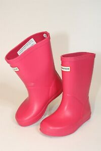 Hunter Youth Girls Size 9 24 Kids First Classic Pull On Rain Boots KFT5003RMA