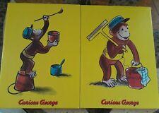 "New ListingCurious George 2 piece Wall Art 10""X14"" Picture Kids Nursery Decor Vintage"