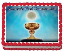 First Communion Party Icing Edible Cake Topper Image Decoration 1/4 sheet