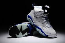 Nike AIR JORDAN 6 RETRO LS SPORT BLUE WHITE UK 9