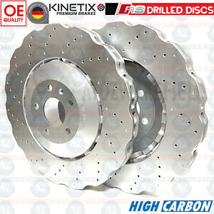 FOR AUDI RS7 2013-2018 FRONT DRILLED WAVED BRAKE DISCS 390mm 4G0615301AH