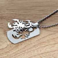 Men Women Silver Tone Scorpion Stainless Steel Chaiin Necklace Gift Jewelry