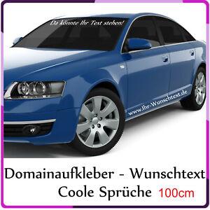 Wunschtext Aufkleber in 100cm Länge Auto Domain Beschriftung Schriftzug Text