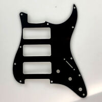 Guitar parts 3 P-90 Stratocaster PICKGUARD for Fender Strat 3 P90s, 3 Ply Black