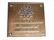 15 Year Blue Switch Geocoin Commemorating 15 Years of Geocaching Unactivated