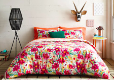 OPALHOUSE 3pc BOGATERRA MERCADO FLORAL DUVET COVER & SHAMS SET ~ FULL QUEEN NEW