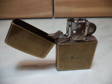 ZIPPO ACCENDINO LIGHTER FEUERZEUG ANTIQUE BRASS OTTONE VINTAGE NEW LAST REMAIN