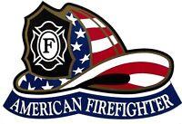 AMERICAN FIREFIGHTER DIE CUT STICKER / DECAL