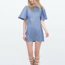 Zara Vestido mini fluido denim talla S