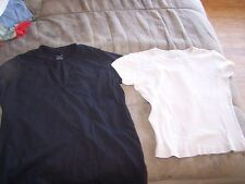 Ladies Nell Flowers & Black Grace Short Sleeve Tops Size S in Excellent Shape
