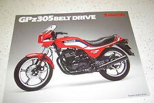 Kawasaki 1985 GPZ 305,EX305 - B3.Belt Drive.NOS.Sales Brochure 2 Pages.