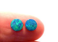 Pair Beautiful Australian Opal Doublets 6mm rounds Gem Grade (3081)