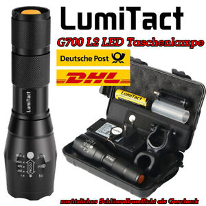 Super Hell 120000lm Taschenlampe Lumitact CREE LED Taktisches Fackel 18650 DHL