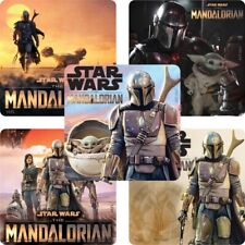 Mandalorian Stickers x 5 - Birthday Party Favours Supplies Star Wars Party Loot