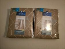 """2 New Home Expressions 50""""x95"""" Pasadena Hutton Brown Blackout Curtain Panels"""