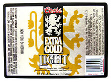 Coors Brewing EXTRA GOLD LIGHT beer label CO 12oz Var. #3 -New York 5c Refund