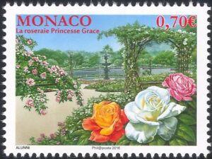 Monaco 2016 Princess Grace Rose Garden/Flowers/Nature/Royalty/Royal 1v (mc1028)